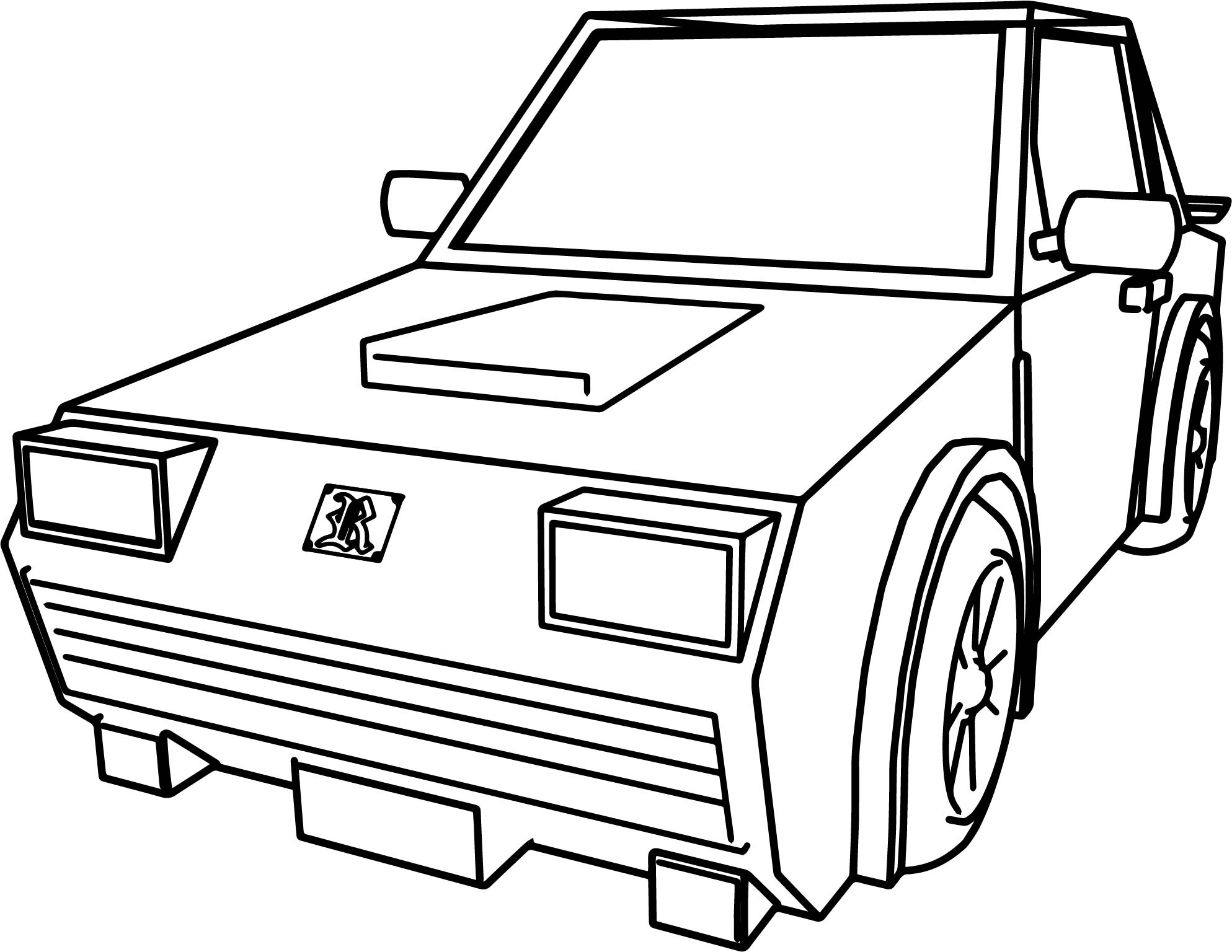 1987x1536 Car For Cartoon Cars Coloring Page Wecoloringpage
