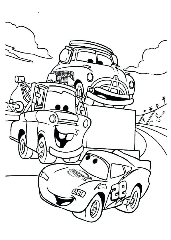 600x840 Good Mater Coloring Pages Online To Print Lightning And Drawing