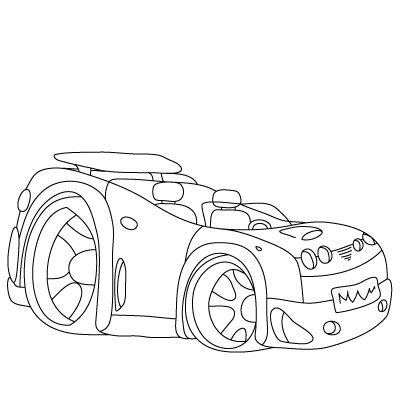 400x400 How To Draw A Hot Rod (For Kids!)