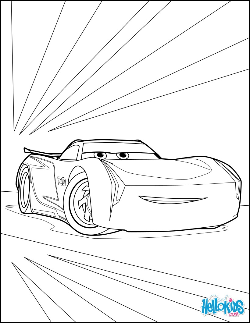 820x1060 Cars 3 Jackson Storm Coloring Pages