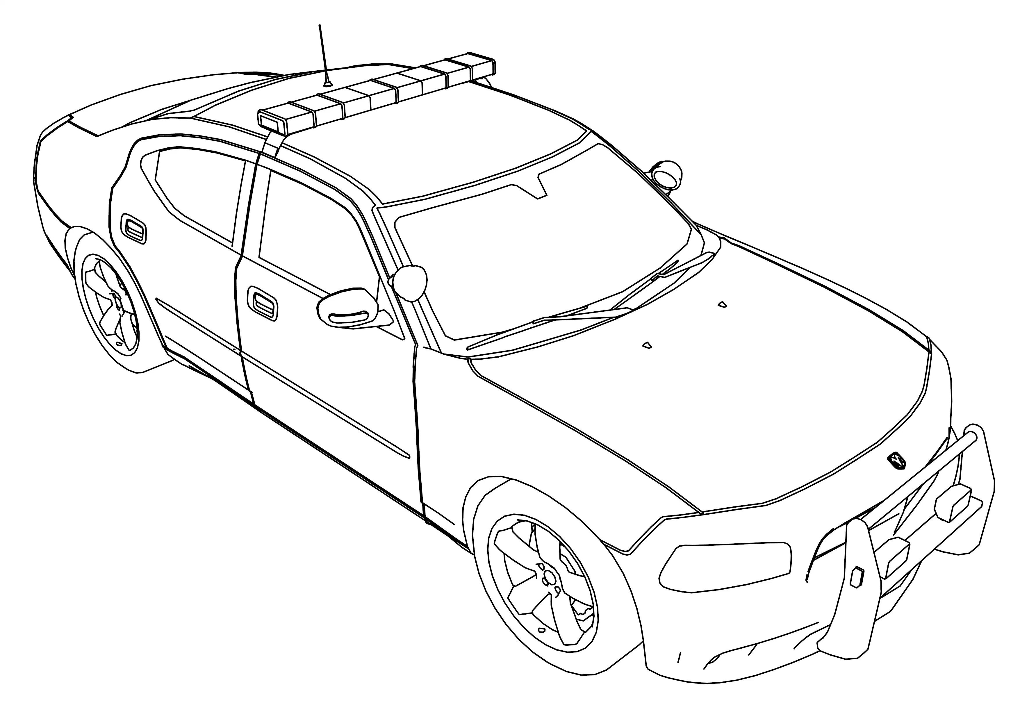 3508x2480 Sheriff Cars Coloring Pages New Police Car Transportation Coloring