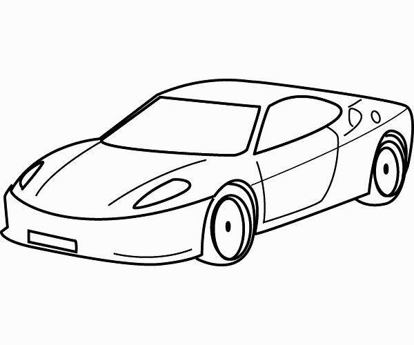 600x500 Cars Drawing Coloring Pages Bigdude.top Trans Design Sketching