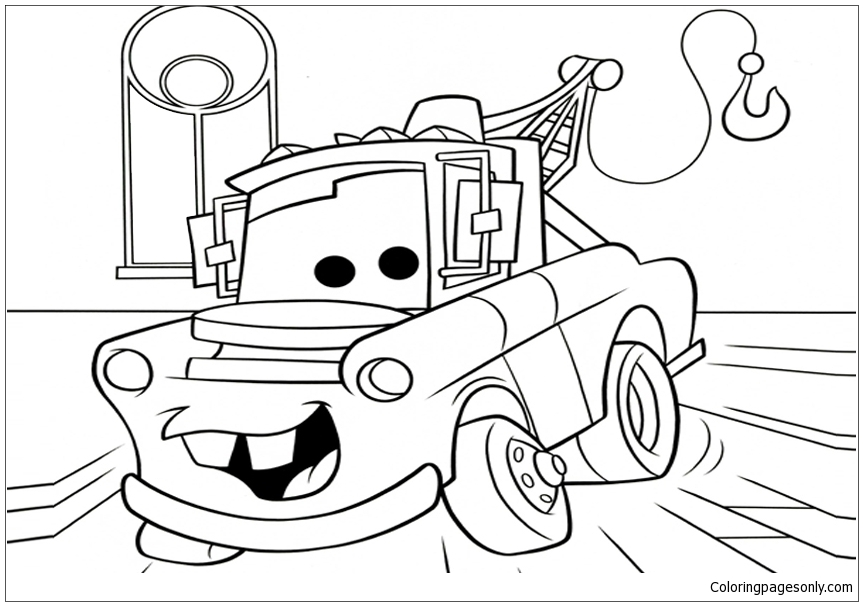 863x606 Disney Cars Movie Coloring Page