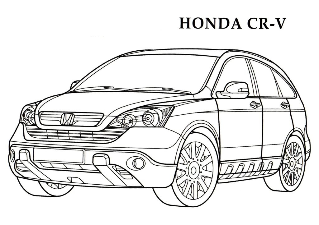 1024x724 Honda Cr V Cars Coloring Pages Kids Coloring Pages Free