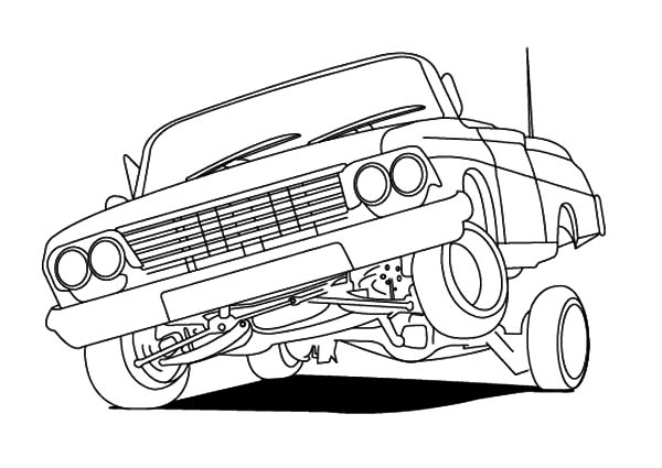 600x425 Lowrider Cars Hydraulics Coloring Pages