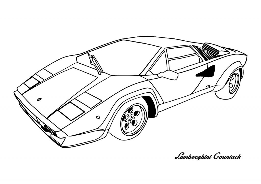 1024x723 Easy Lamborghini Coloring Pages Best Of Free Printable Drawing