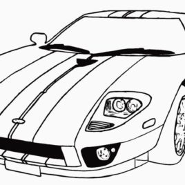 268x268 Car Coloring Pages All About