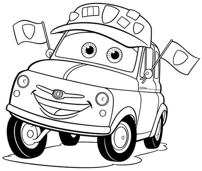 705x600 7 best images of cars movie coloring pages printable