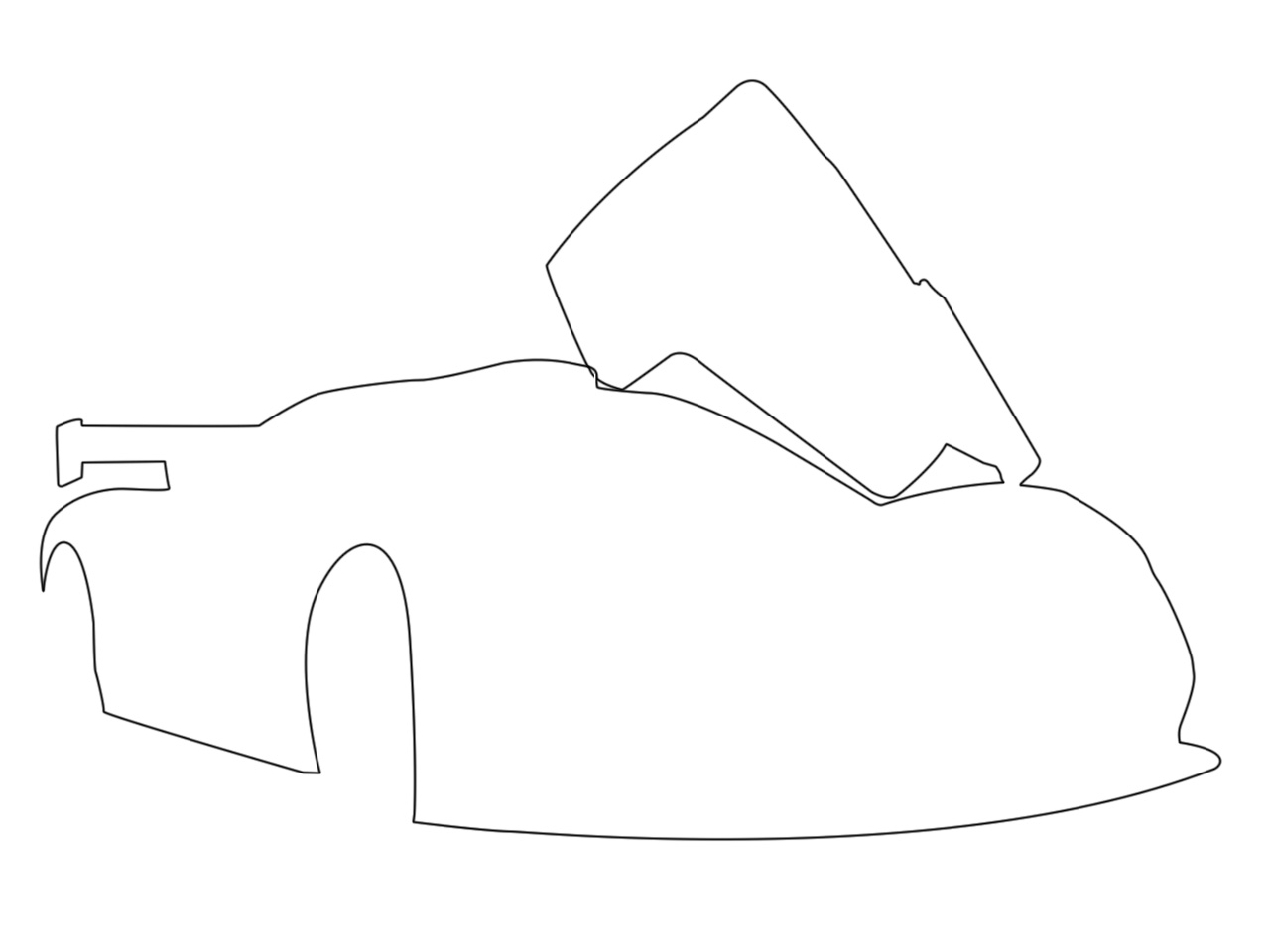 1280x960 Drawing A Car Lineart In Photoshop