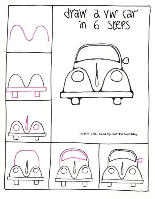 500x644 How To Draw A Car Art Cars, Doodles And Drawings