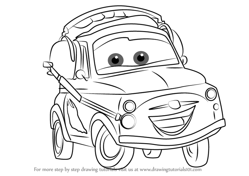 800x567 Learn How To Draw Luigi From Cars 3 (Cars 3) Step By Step