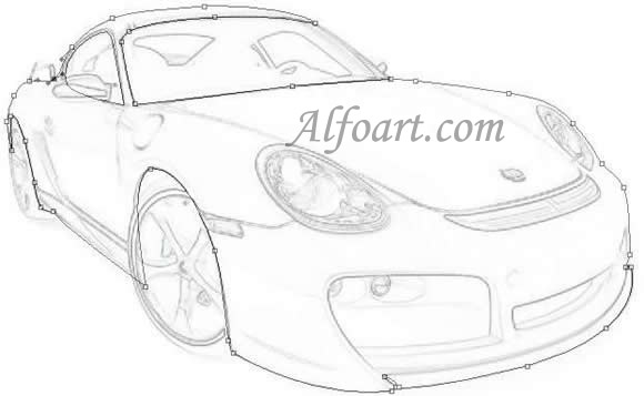 580x357 Learn To Draw A Realistic Porsche Cayman Or How To Make Porshe