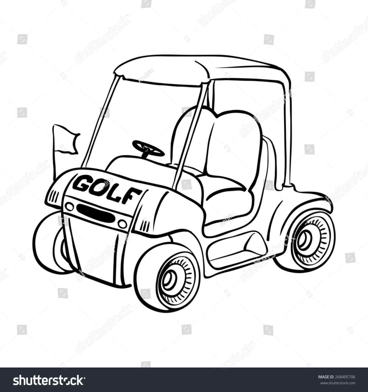 1185x1264 Every Golf Cart Needs A Lift Kit Golfpatentscom Vector Sketch