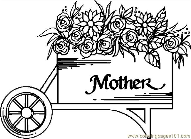 650x474 Flower Cart Coloring Page