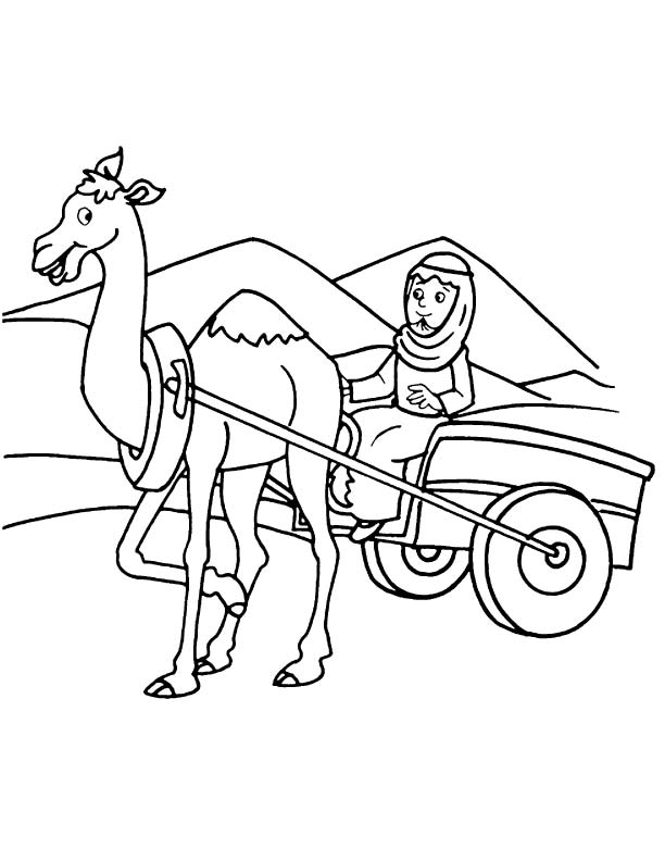 612x792 An Arabian On Camel Cart Coloring Page Download Free An Arabian