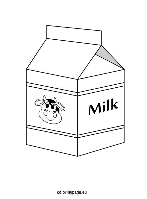milk carton coloring pages - photo#10