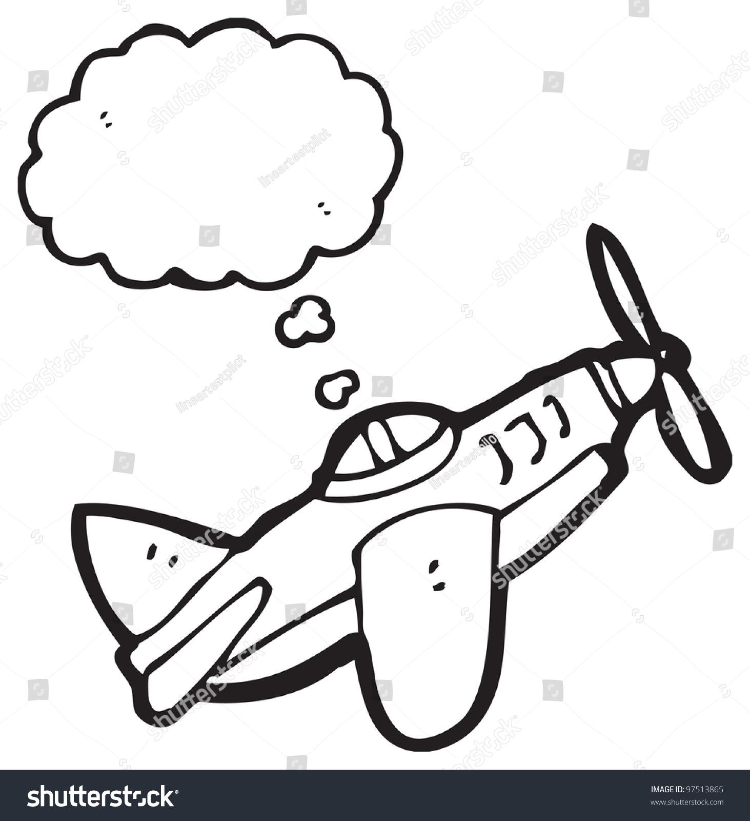 1463x1600 Cartoon Airplane Drawing Cartoon Airplane Stock Illustration