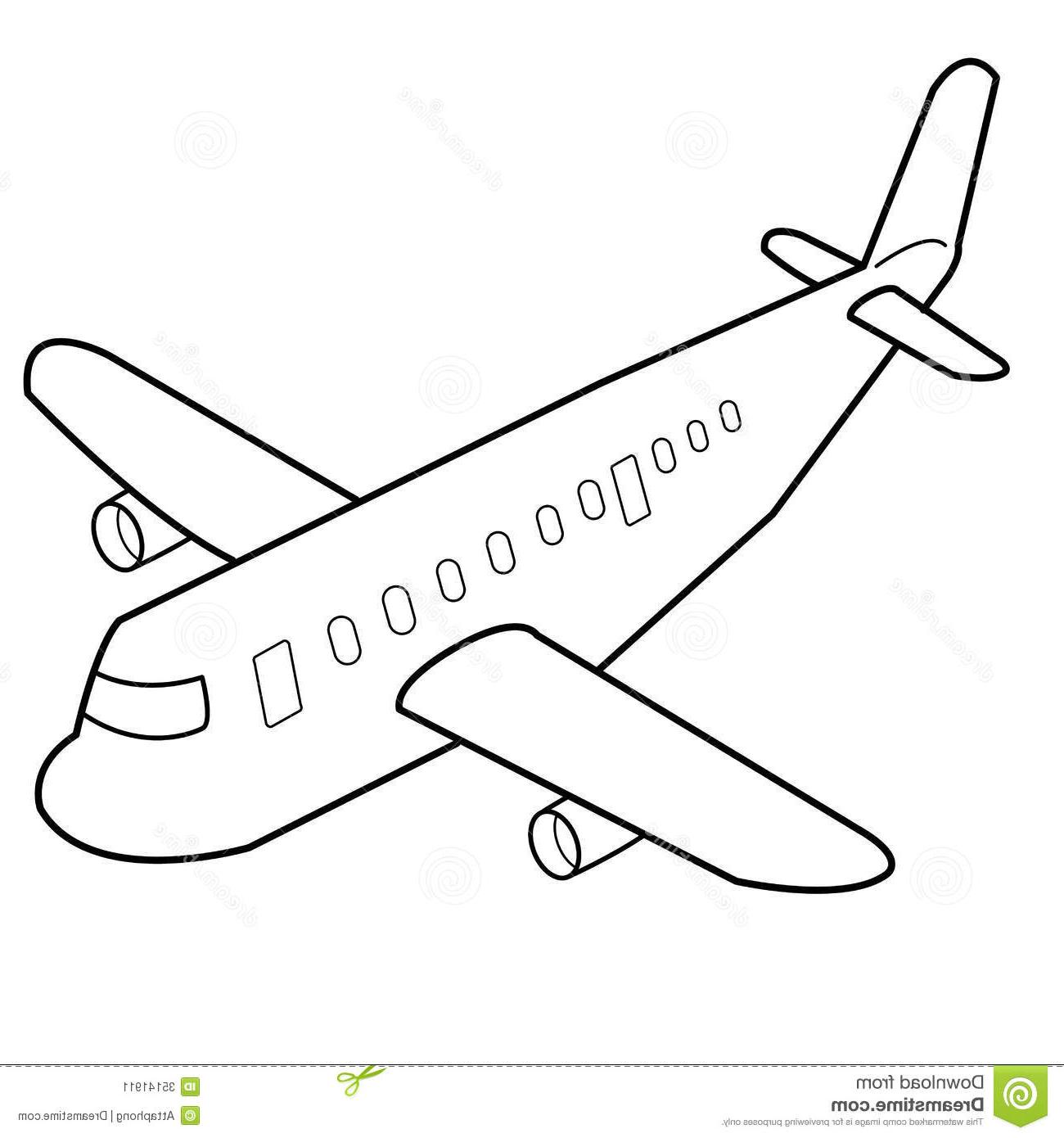 1300x1390 Cartoon Drawing Of Airplane