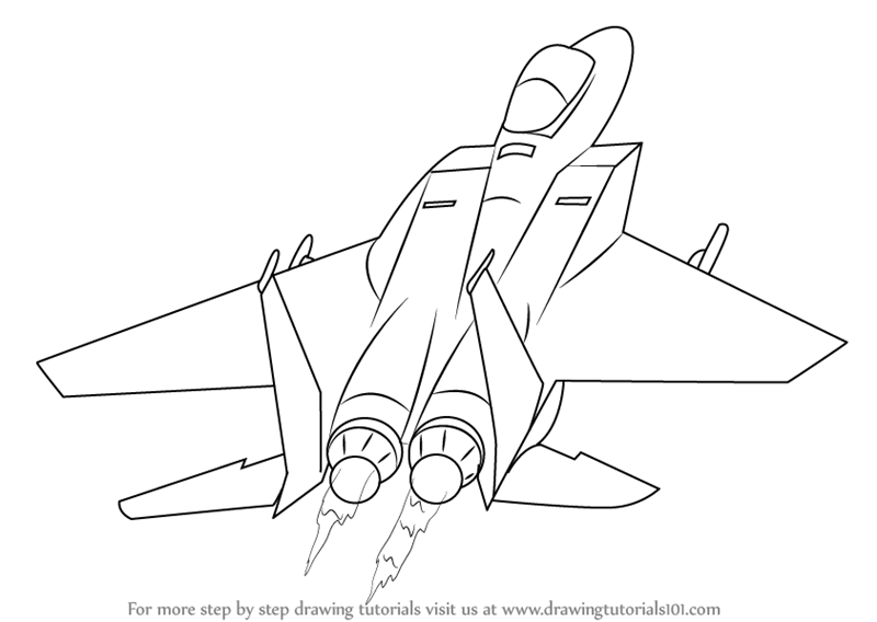 800x568 Learn How To Draw A Jet Plane (Airplanes) Step By Step Drawing