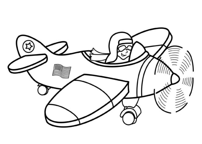 660x471 Cartoon Airplane Coloring Pages Festas Airplanes