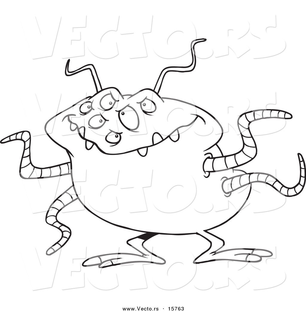 1024x1044 Vector Of A Cartoon Menacing Alien