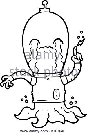 300x461 Cartoon Alien Stock Vector Art Amp Illustration, Vector Image