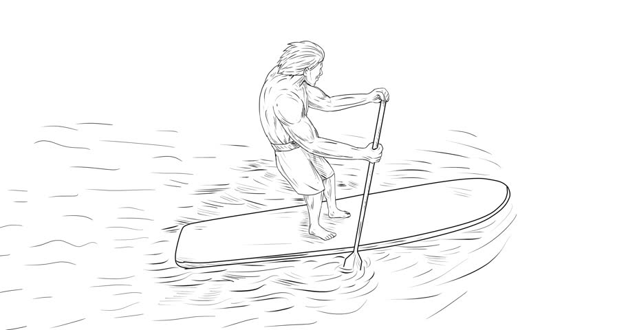 910x480 Black And White Cartoon Animation, Video Doodle, A Young Man