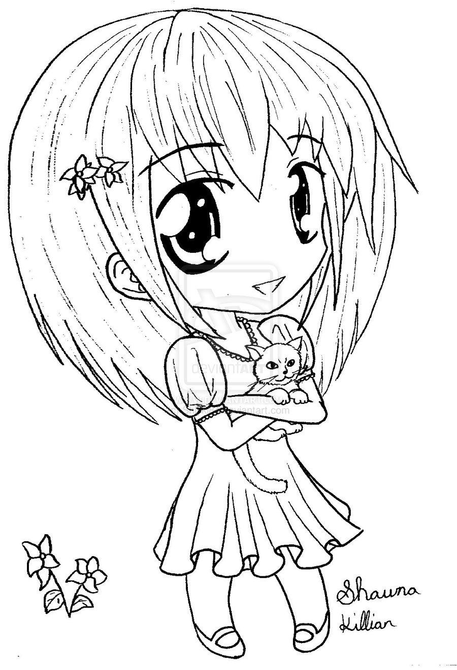 900x1317 Cartoon Drawings Of Girls Anime Chibi Girl Drawing