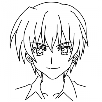 350x350 how to draw keiichi maebara higurashi step by step anime