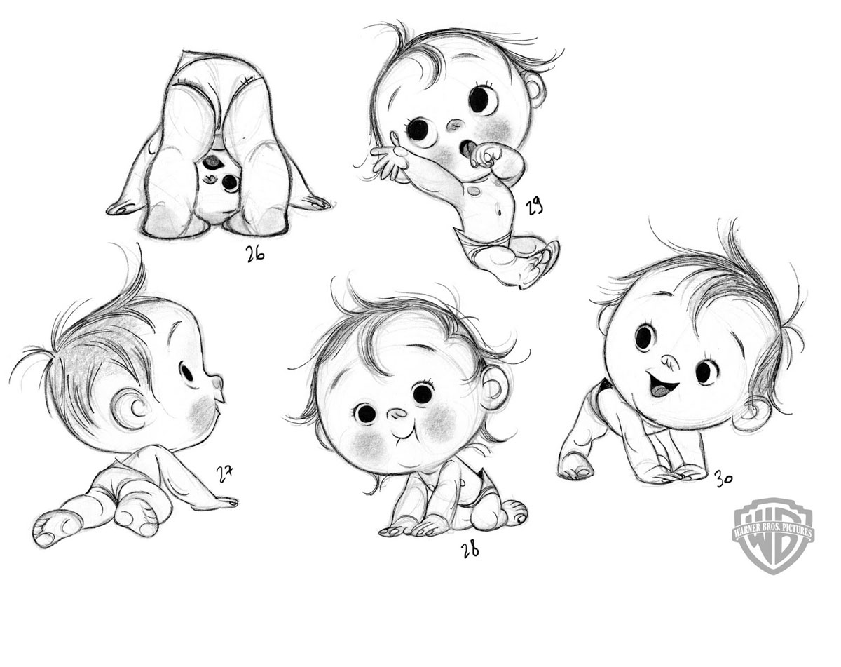 Cartoon Babies Drawing