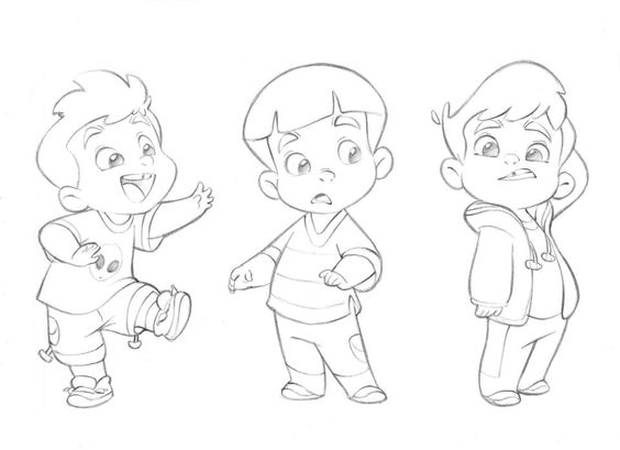 564x409 Cartoon Kid Drawing 13420