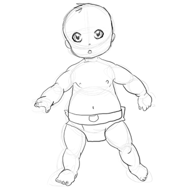 375x375 How To Draw A Baby Drawing Babies Step By Step Lesson