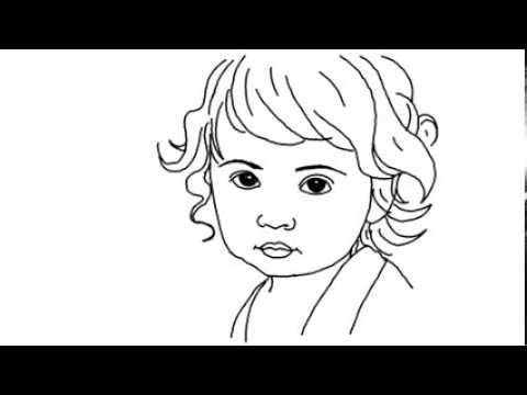 480x360 How To Draw A Cute Baby Girl Yzarts Yzarts