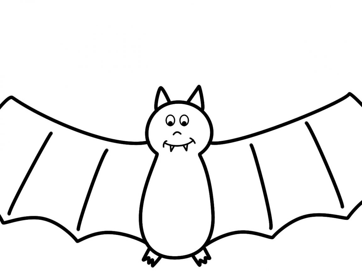 1152x864 Coloring Pages Draw A Bat