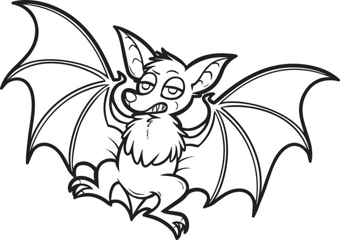 700x493 Free Printable Cartoon Bat Coloring Page For Kids