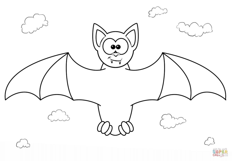 1186x824 Cartoon Bat Drawing Cartoon Vampire Bat Coloring Page Free