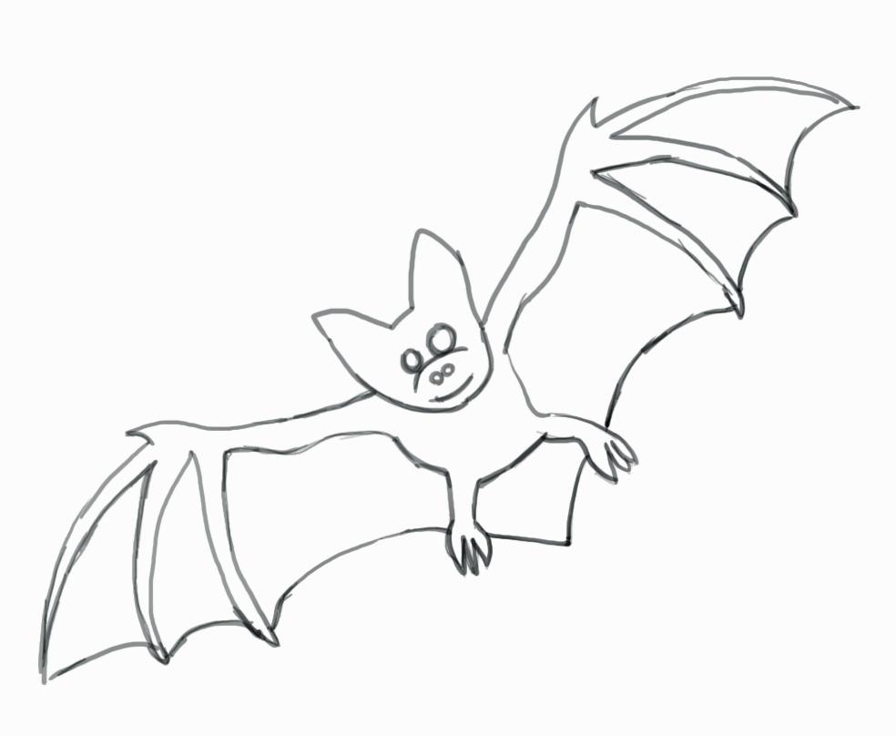 984x808 Cartoon Bat Drawing How To Draw A Bat