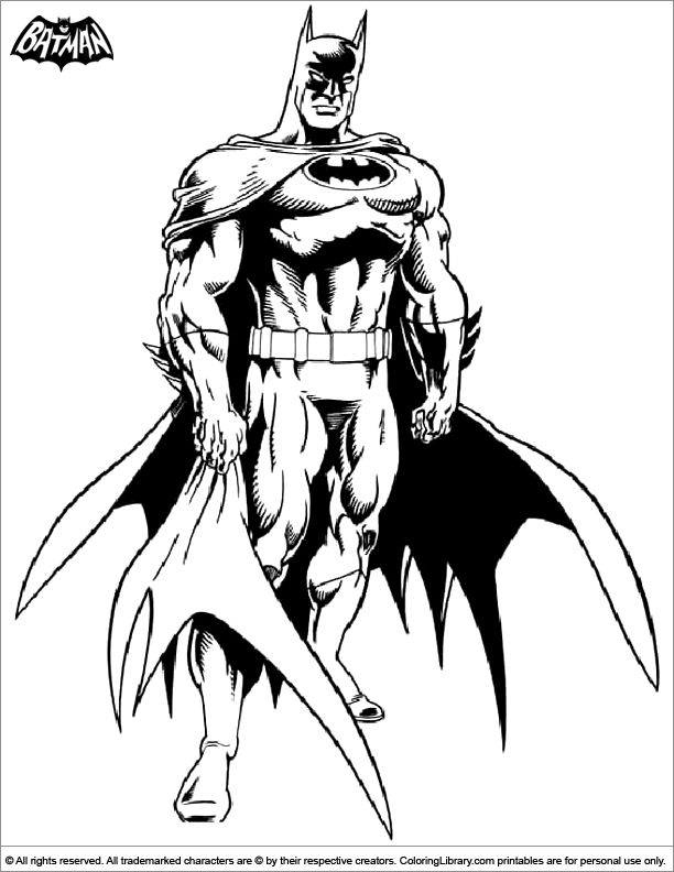 Cartoon Batman Drawing