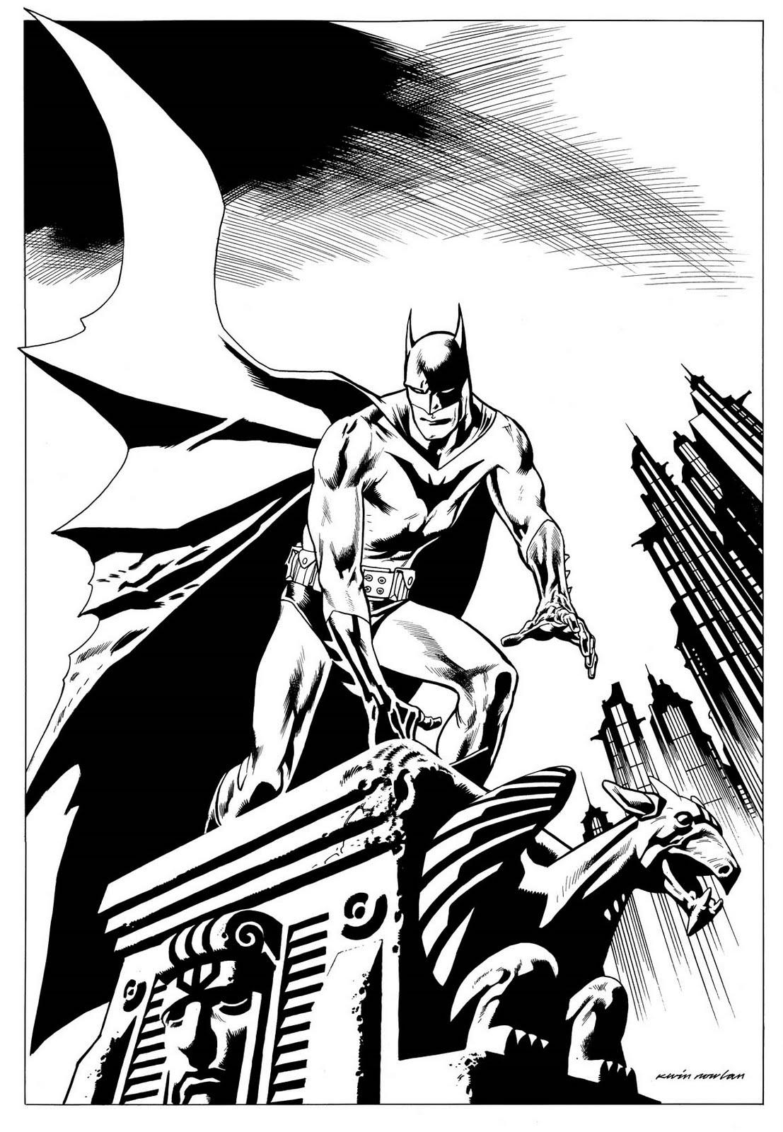 1107x1600 Kevin Nowlan Batman Gargoyle Drawing