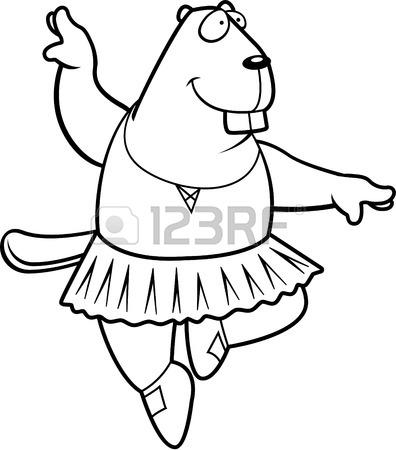 Cartoon Beaver Drawing