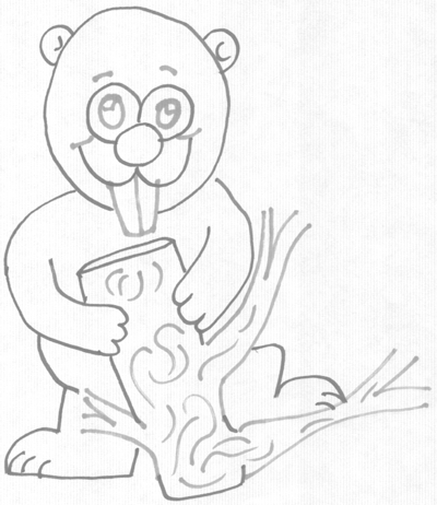 400x462 How To Draw Cartoon Beavers In Easy Steps Drawing Lesson