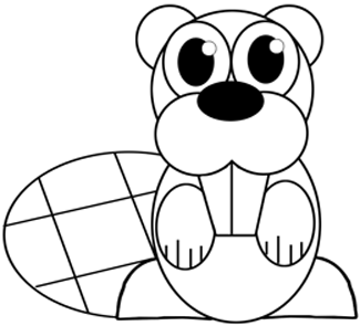 325x295 How To Draw A Cartoon Beaver With Easy Step By Step Drawing