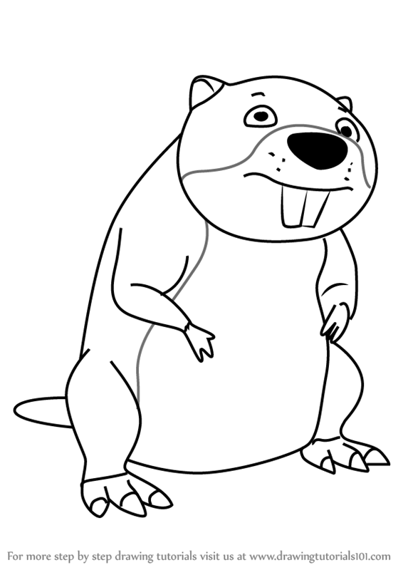 566x800 Learn How To Draw Chompy The Beaver From Paw Patrol (Paw Patrol