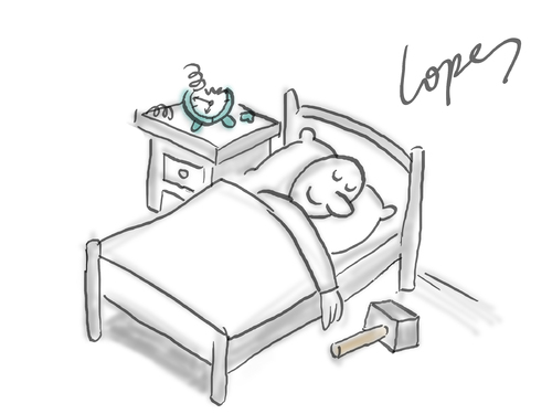 Cartoon Bed Drawing
