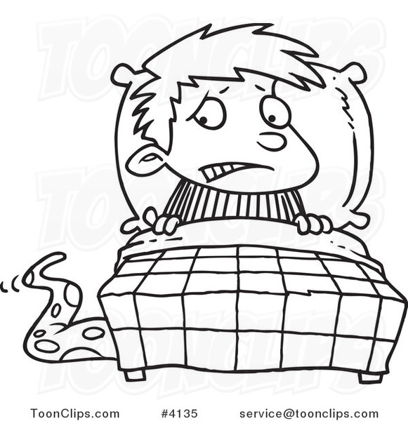 581x600 Cartoon Blacknd White Line Drawing Of Scared Boy Seeing