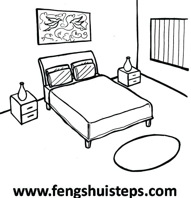 624x647 Easy To Draw Bedroom Bed Drawings And Design Cool Cartoon