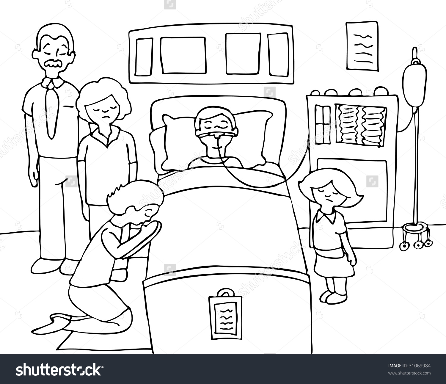 1500x1291 Hospital Cartoon Drawing New Bed Drawing Respiratory Therapist