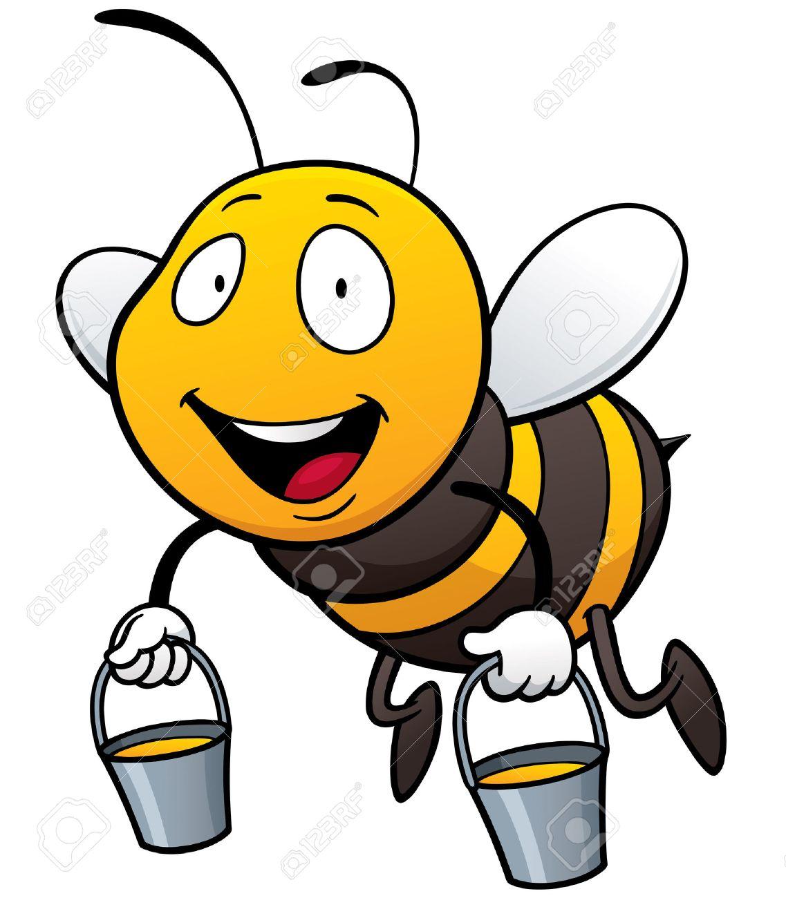 1137x1300 Honey Bee Drawing Cartoon Vector Illustration Of Cartoon Bee
