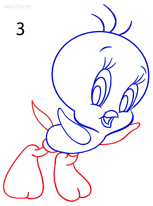 500x672 How To Draw Tweety Bird (Step by Step Pictures) Cool2bKids
