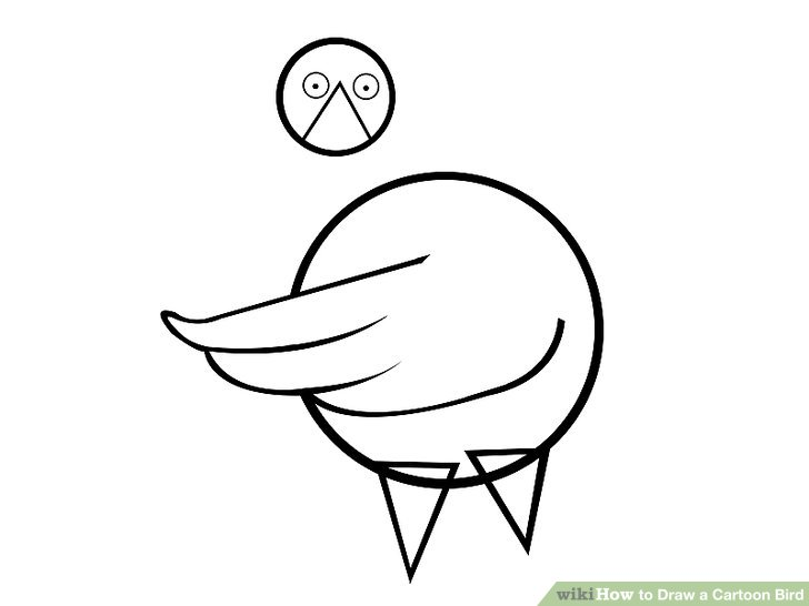 728x546 How To Draw A Cartoon Bird 10 Steps (With Pictures)